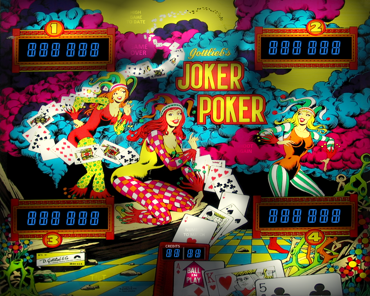 Joker Poker Gottlieb 1978 Directb2s Vpforums Org